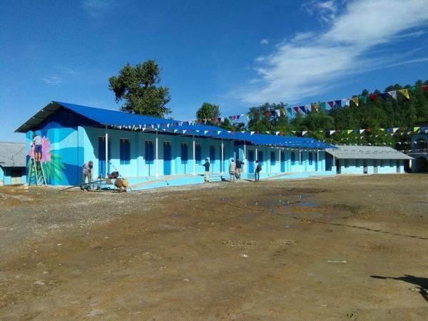 Repaired school buildings