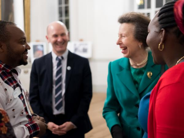 Harrison speaking with VSO Patron, HRH Princess Anne, at the VSO Volunteer Impact Awards