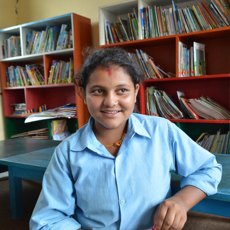 13-year-old Anisha Sharma took part in the VSO Sisters for Sistsers mentoring project.