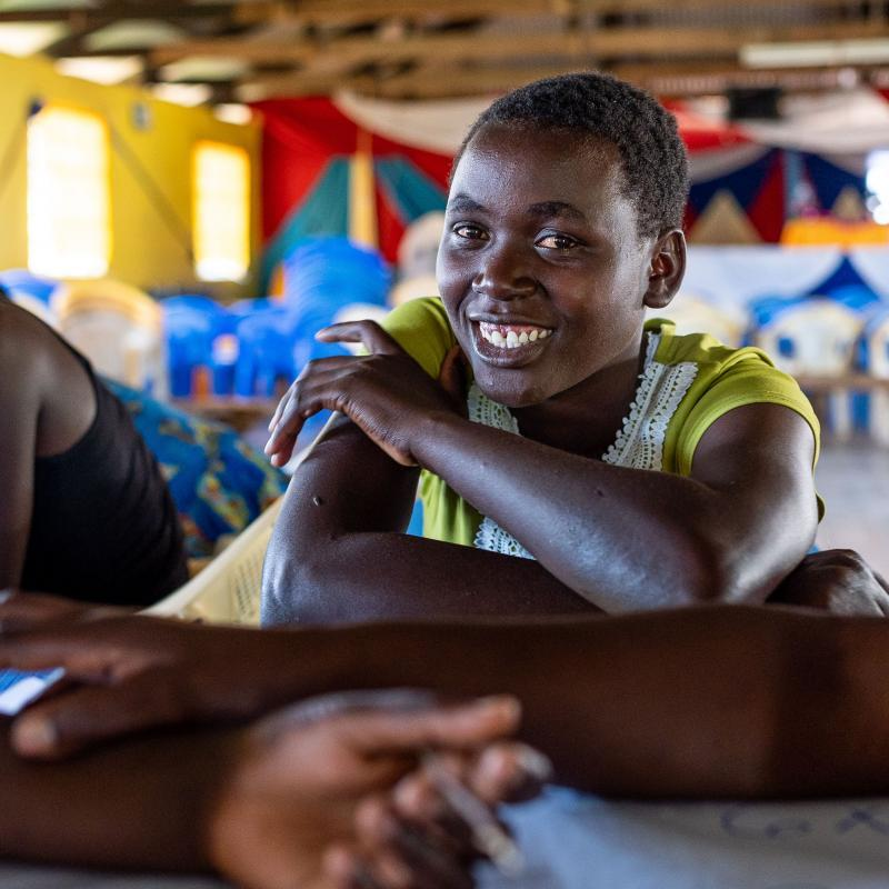 Consolata's family couldn't afford school fees so she left school at 15. Now 18, Consolata is a young widow with one child and attends a catch-up centre in Migori, southwest Kenya.
