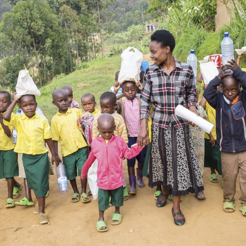 Teacher Josephine in Rwanda