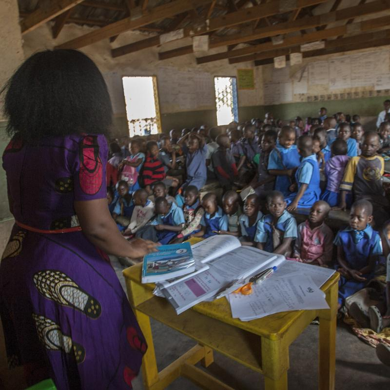 Struggling teacher in Malawi