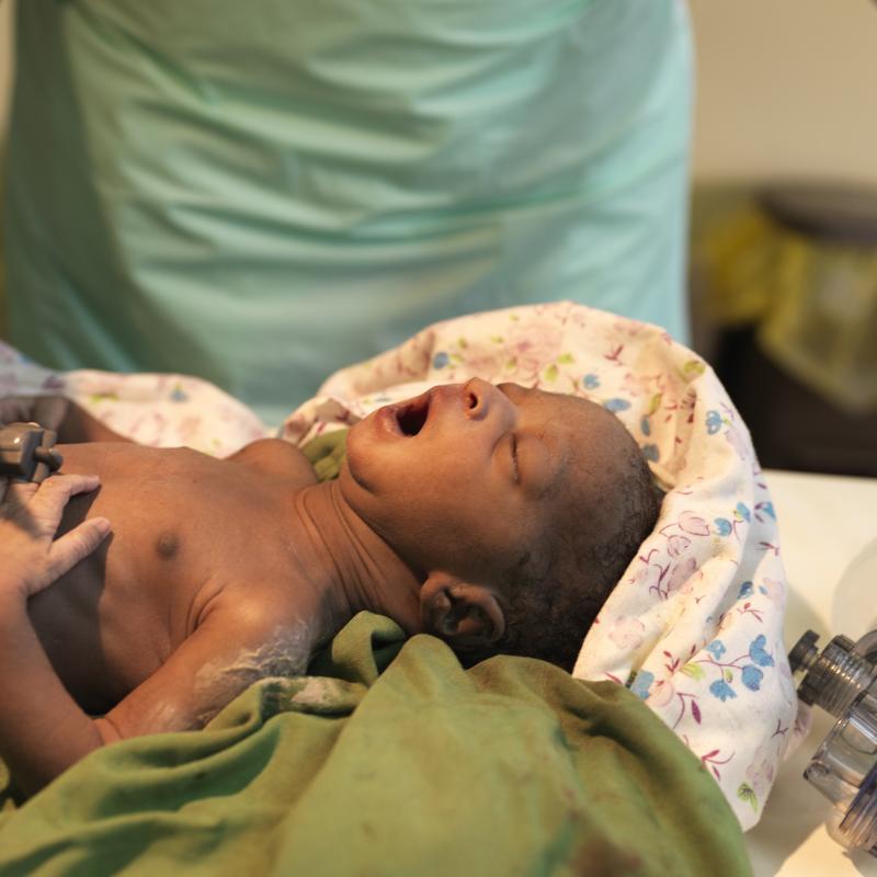 Newborn baby in Uganda
