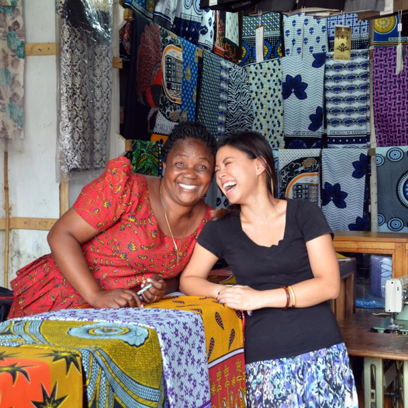 Volunteer Sandy Hung is volunteering in Tanzania supporting local businesses