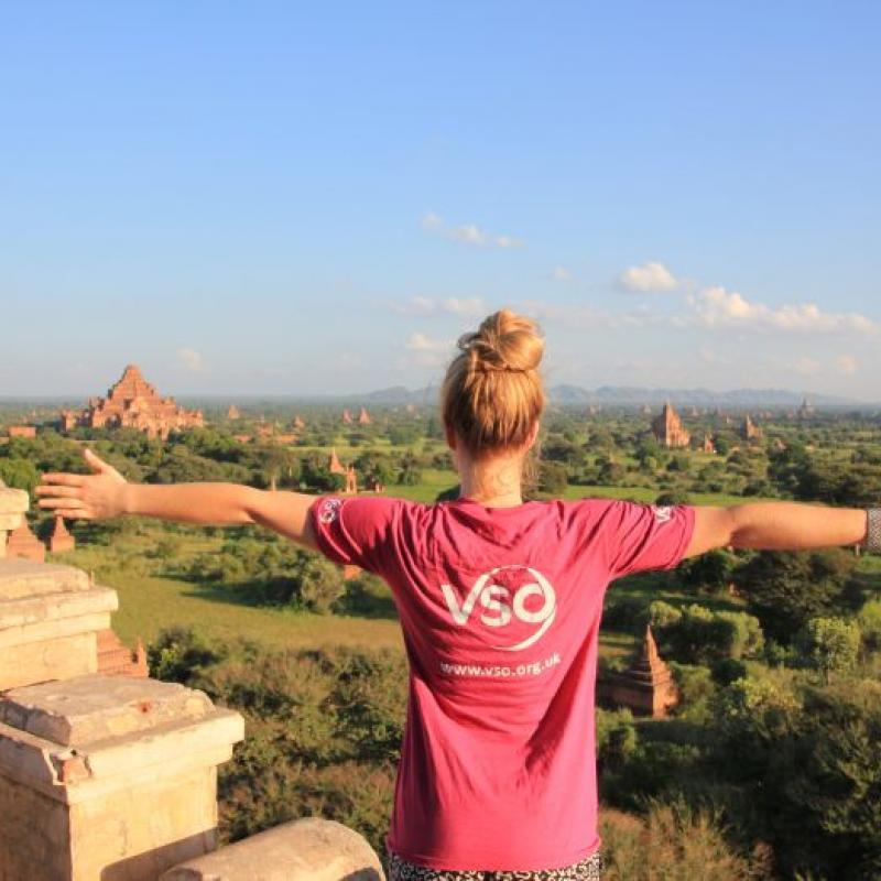 VSO Charity Trekkers celebrating completing the Myanmar trek