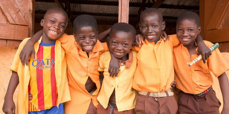 Noah, Sunday, Sapak Elijah and Tobbi - all 10 years old, from Gaare Gbani School, Talensi District Ghana.