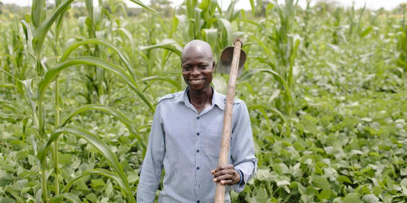 Bosco is a farmer in Uganda who has been supported by VSO's YELG project