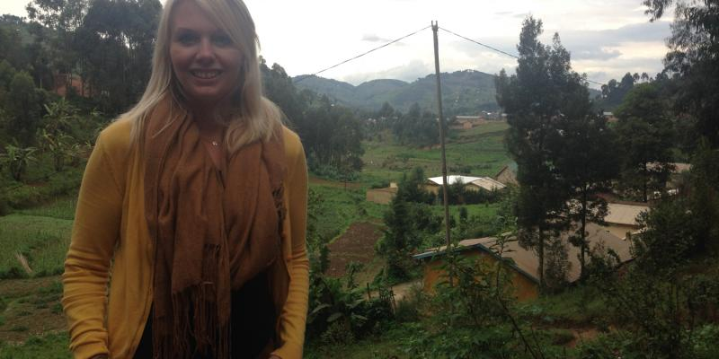 Chloe Bean is an education volunteer in Rwanda