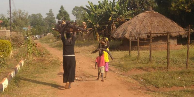 Dusty street in Gulu, Uganda