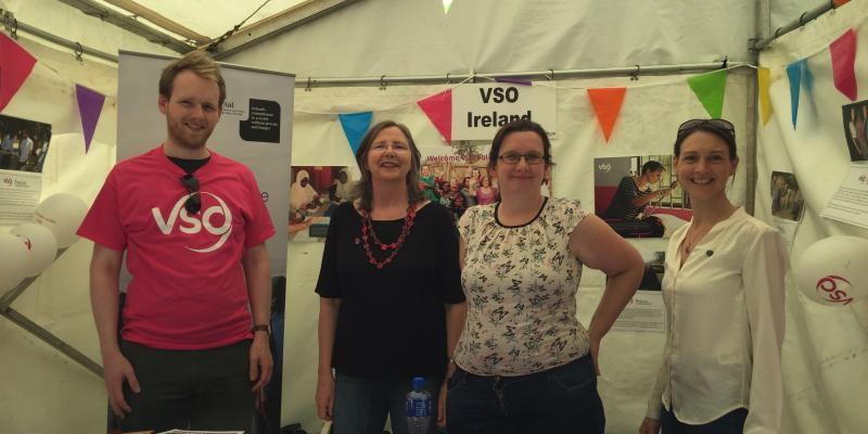 VSO Ireland's stand at Africa Day 2016