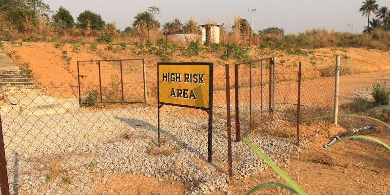 Makeni Ebola Treatment Centre sign