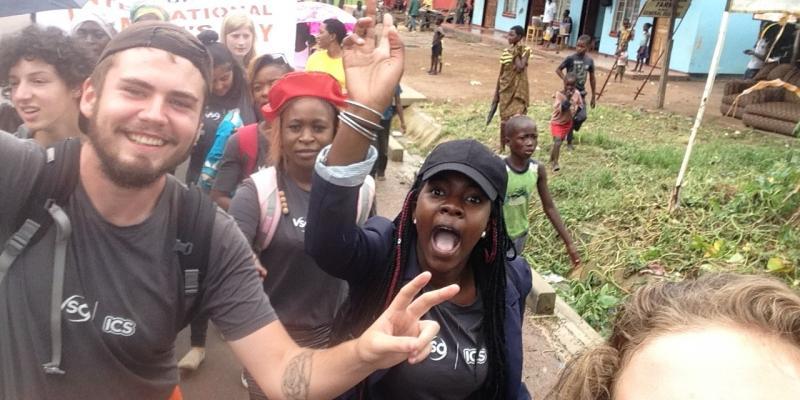 VSO ICS volunteers in Zambia IWD 2017