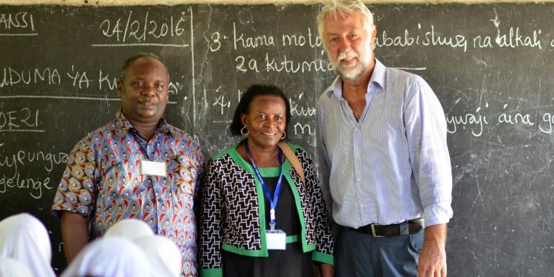Jan Rensink, VSO volunteer school leadership adviser, Tanzania
