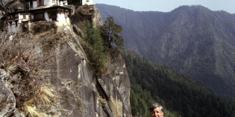 VSO volunteer John Stedman was the first western teacher at Bhutan's only technical college