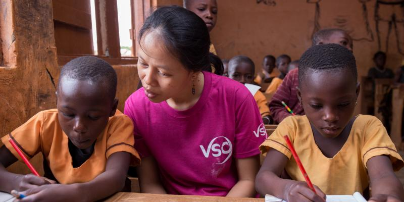 Mary volunteered as an education specialist in Ghana, supporting children with disabilities gain access to school