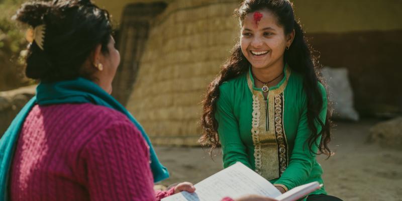 Nirmala, schoolgirl in Nepal