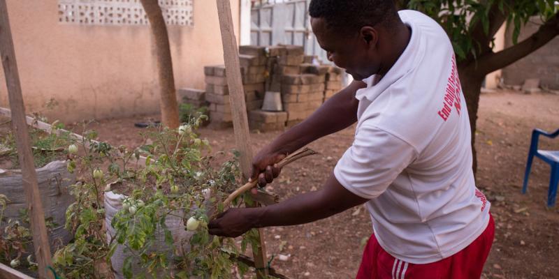 Peter Okoth is a Kenyan volunteer supporting farmers in Ghana