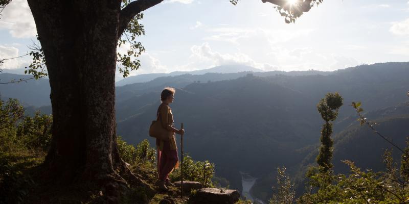 VSO volunteer Cath Nixon in Nepal