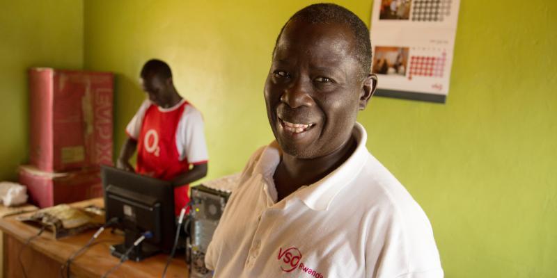 VSO Uganda volunteer Fred Kasozi