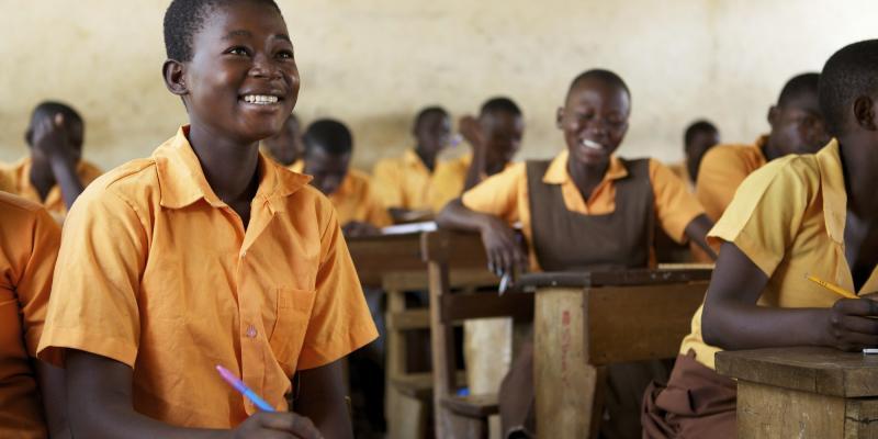 Girl in a school in Ghana   VSO