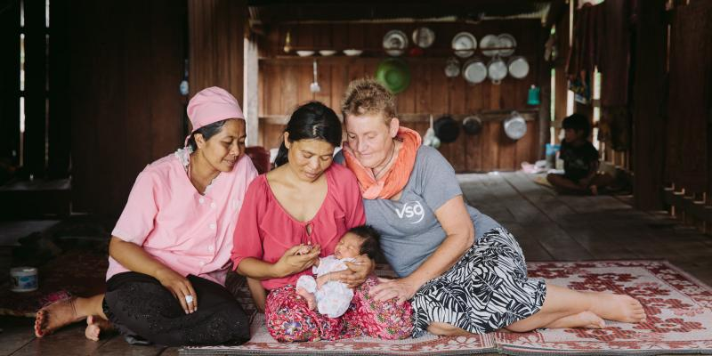 Soon Hir's son survived a long labor thanks to Ans Ohms' work at the local health centre.
