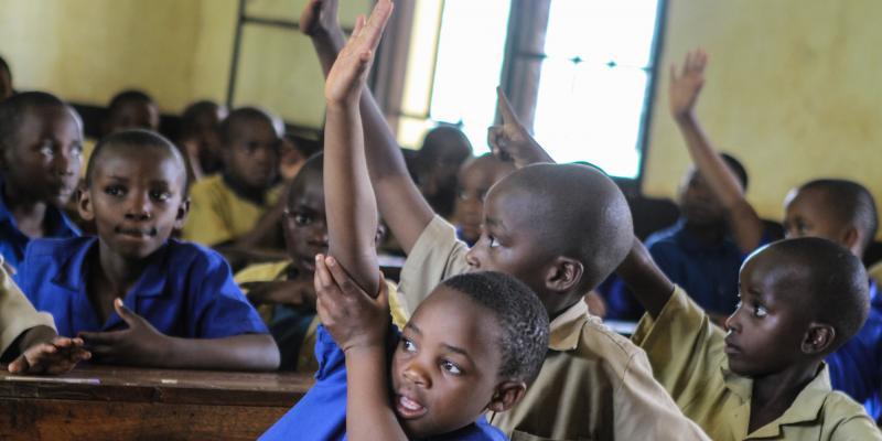 Children at Ngwino Nawe school in Rwanda | VSO