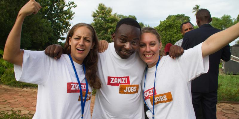 Randstad corporate volunteers at Zanzibar jobs fair