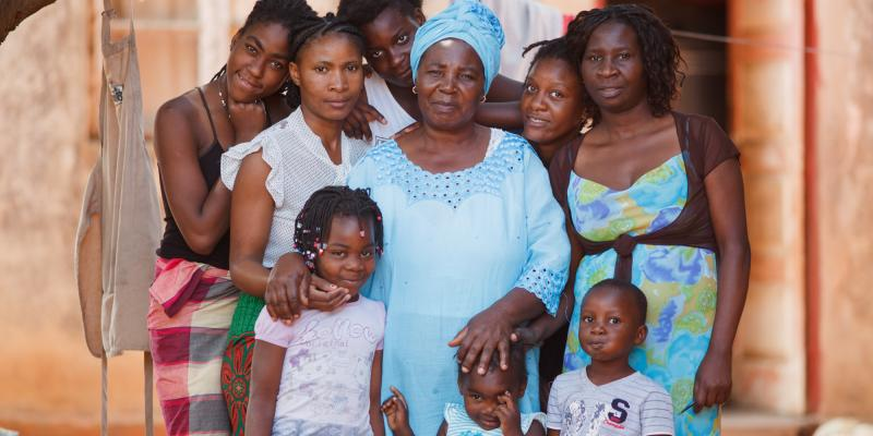 Grandmother Maria Jacinto and her family in Mozambique   VSO