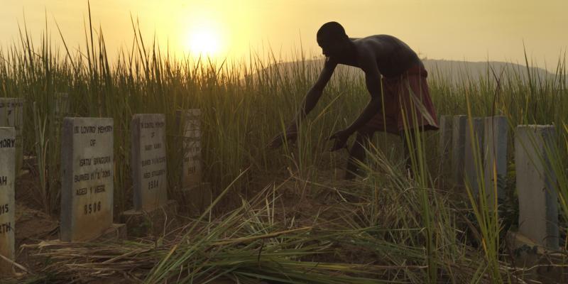 Volunteer Ebola grave yard caretakers at Waterloo, Freetown