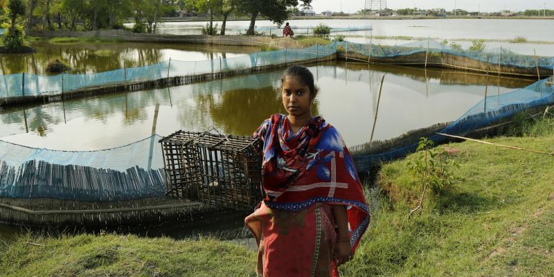 Sathi Das , Crab farmer in Bangladesh