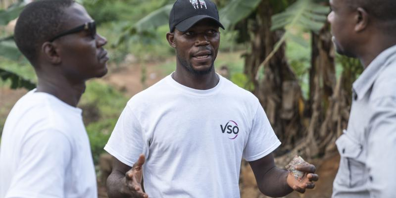 Volunteer Francis Kandeh, 29, is a community volunteer helping make his city more prepared for natural disasters