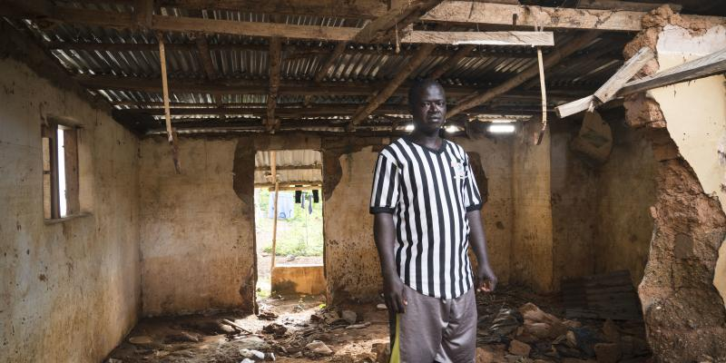 Alpha Kamara's house was destroyed during the 2017 mudslide.