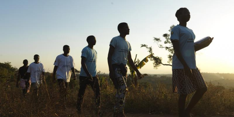 Community volunteers in the field to conduct surveys after Cyclone Idai.