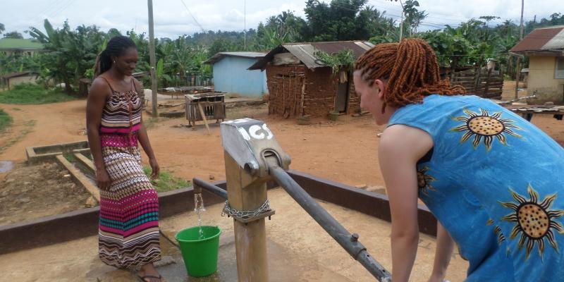 VSO ICS volunteers helped restore access to clean water