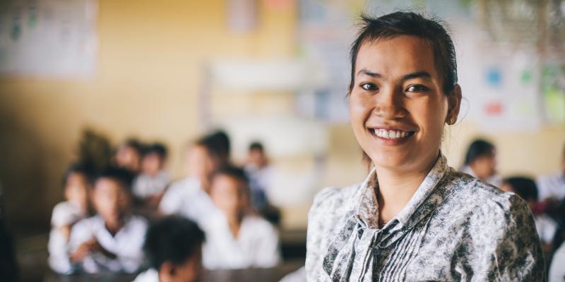 Souy Kran is a primary school teacher in Cambodia