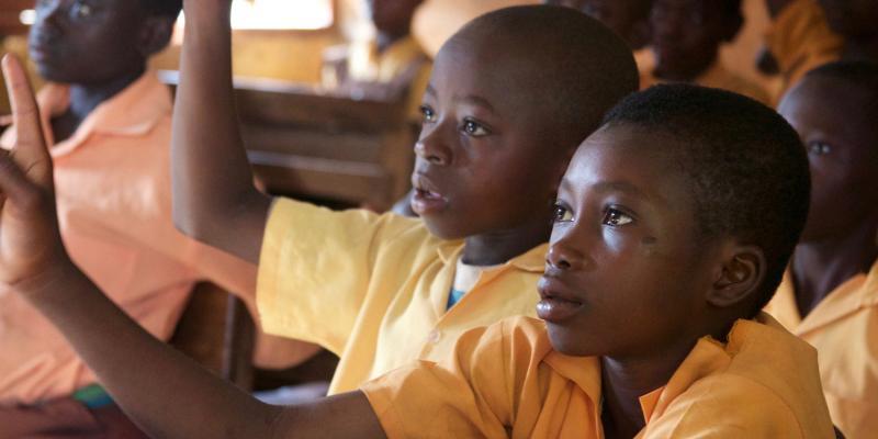 Tongo Primary children in class, Ghana