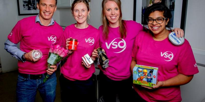 VSO's Fundraising team at the cake-off