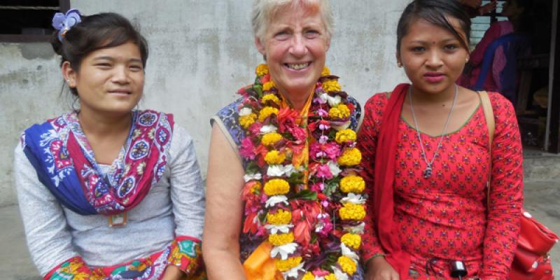 Ann Marcer, education volunteer, VSO Nepal