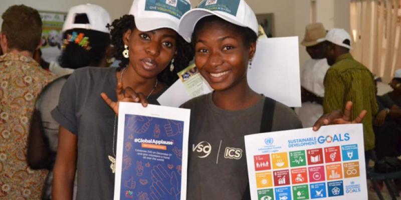 celebrating volunteer day in Nigeria