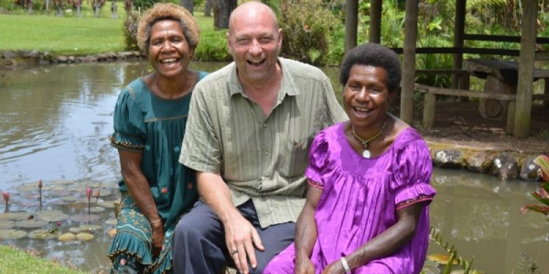 Charlie Taylor on his placement in Papua New Guinea