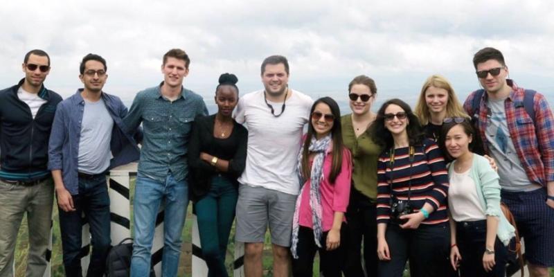 Group of corporate volunteers from Citi in Kenya on VSO Knowledge Exchange programme