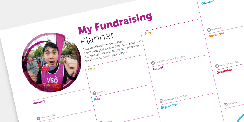 plan your fundraising over time to stay ahead of the game, with this handy planner.