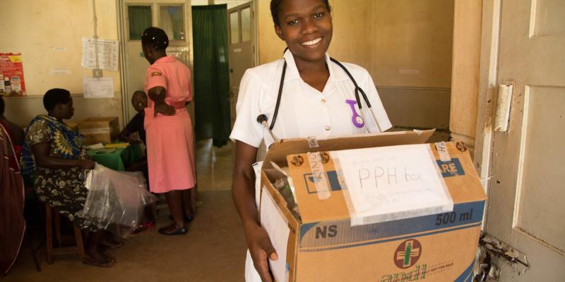 Ugandan midwife Frederickah
