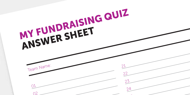 Download our quiz answer sheet