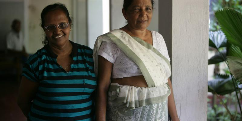 Staff at a care facility in Sri Lanka supported by VSO