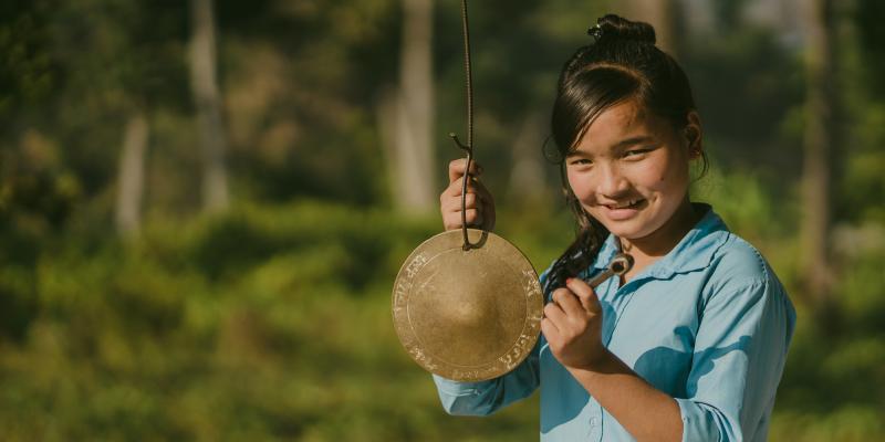 schoolgirl in Nepal