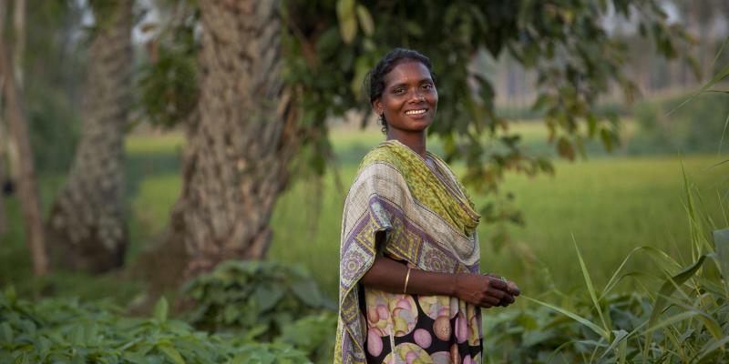 Selina Kerketa (aged 28) is the Secretary of a farmer group with 30 all female members in Durgapur Village, Rangpur, Bangladesh.