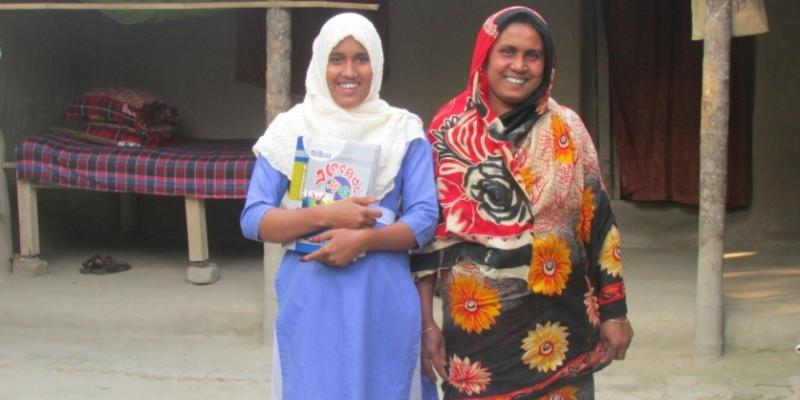 Girl and her mother at home in Bangladesh | VSO