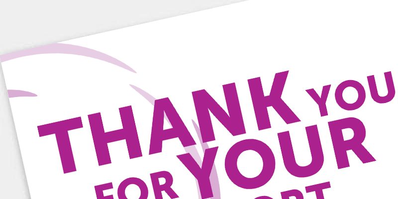 Download and print this thank you poster