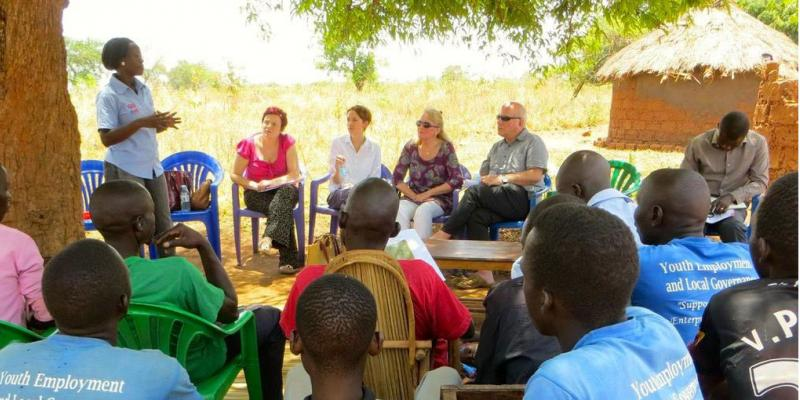 Outdoor meeting - YELG project, Uganda.